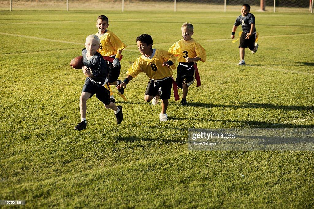 Flag Football Action : Stock Photo