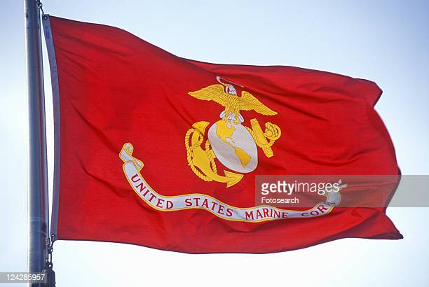 flag for us marine corps - marine corps flag stock pictures, royalty-free photos & images