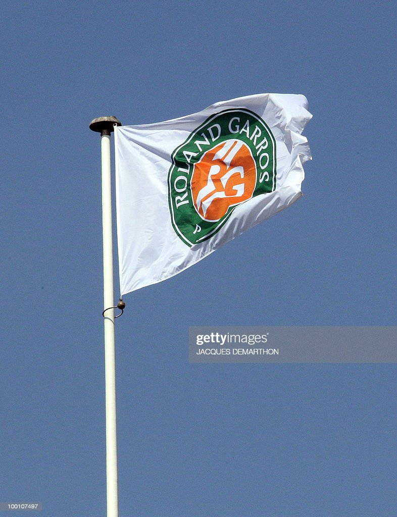 A flag is pictured over the centre court at the Roland-Garros tennis stadium in Paris, on May 20, 2010, three days ahead of the French Open, the second Grand Slam tournament of the season.