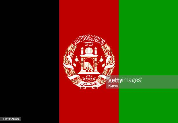 flag of afghanistan - afghanistan stock pictures, royalty-free photos & images