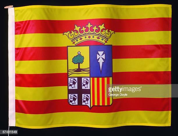 flag of aragon - アラゴン ストックフォトと画像