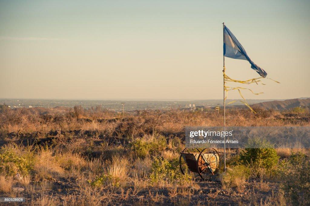 Flag of Argentina : Stock Photo
