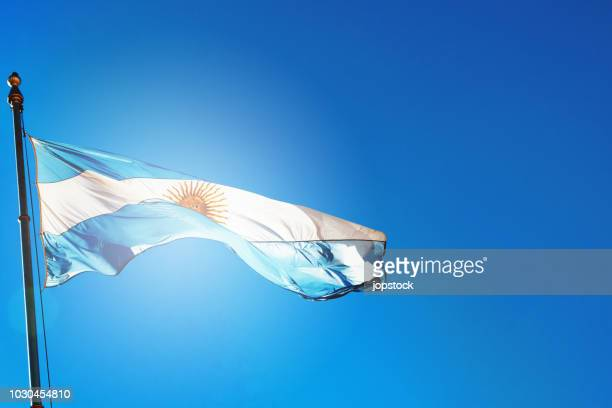 Flag of Argentina waving outdoors