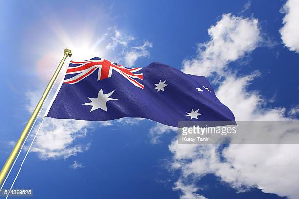 flag of australia - australian flag stock pictures, royalty-free photos & images