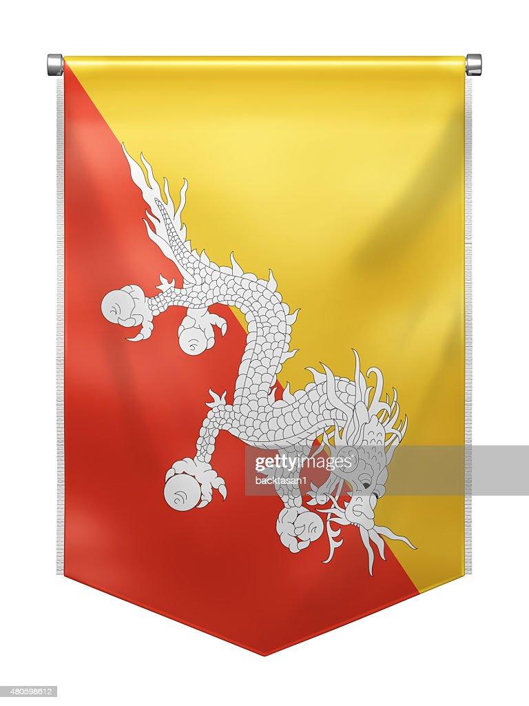 Flag of Bhutan : Stock Photo