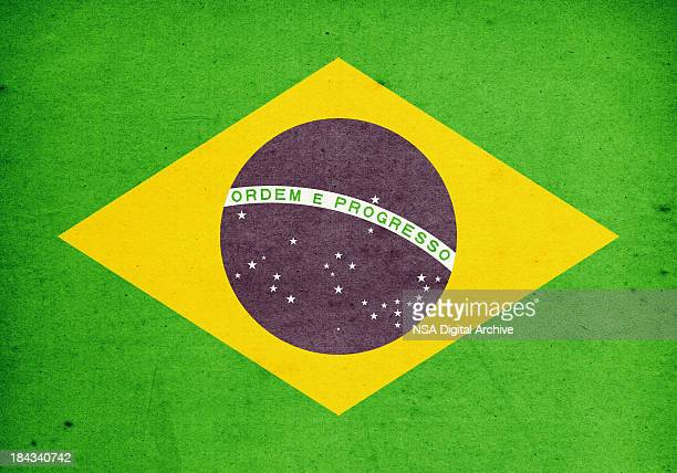 Flag of Brasil Close-Up (High Resolution Image)