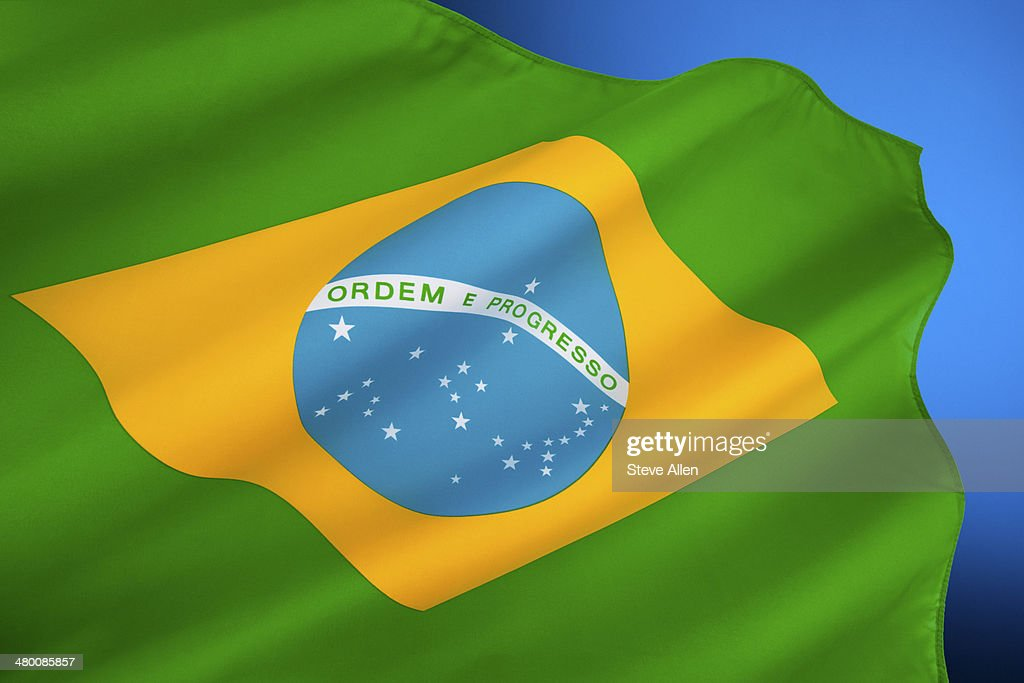 Flag of Brazil : Stock Photo