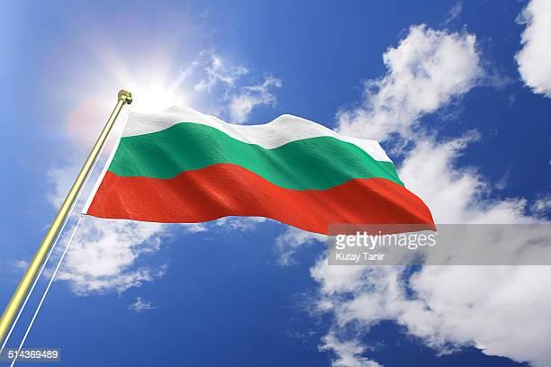 flag of bulgaria - bulgarie photos et images de collection