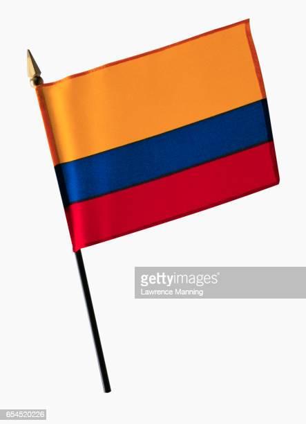 flag of colombia - bandera colombiana fotografías e imágenes de stock