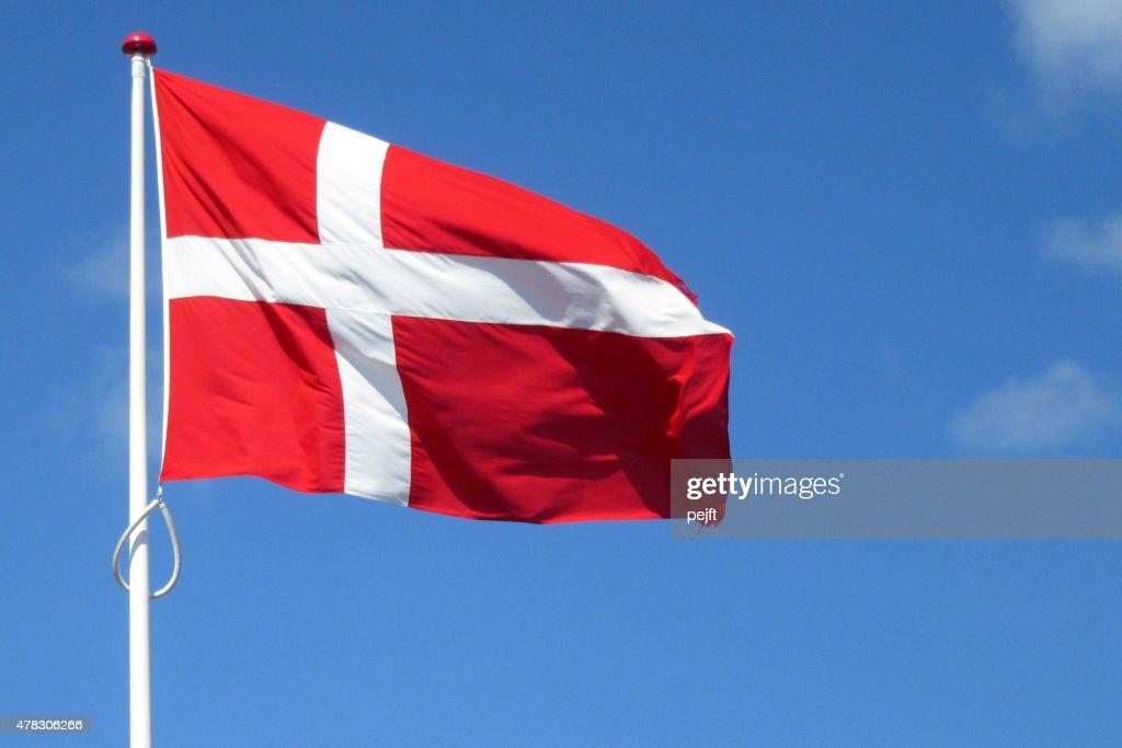 Flag of Denmark : Stock Photo