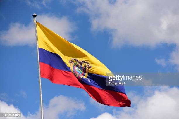 flag of ecuador - ecuador stock pictures, royalty-free photos & images