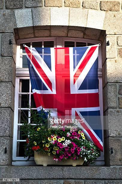 Flag of England at Barfleur Manche France