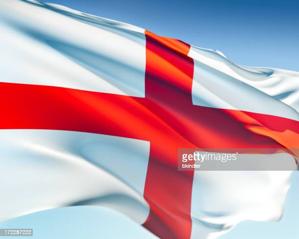 A flag of England blowing in the wind