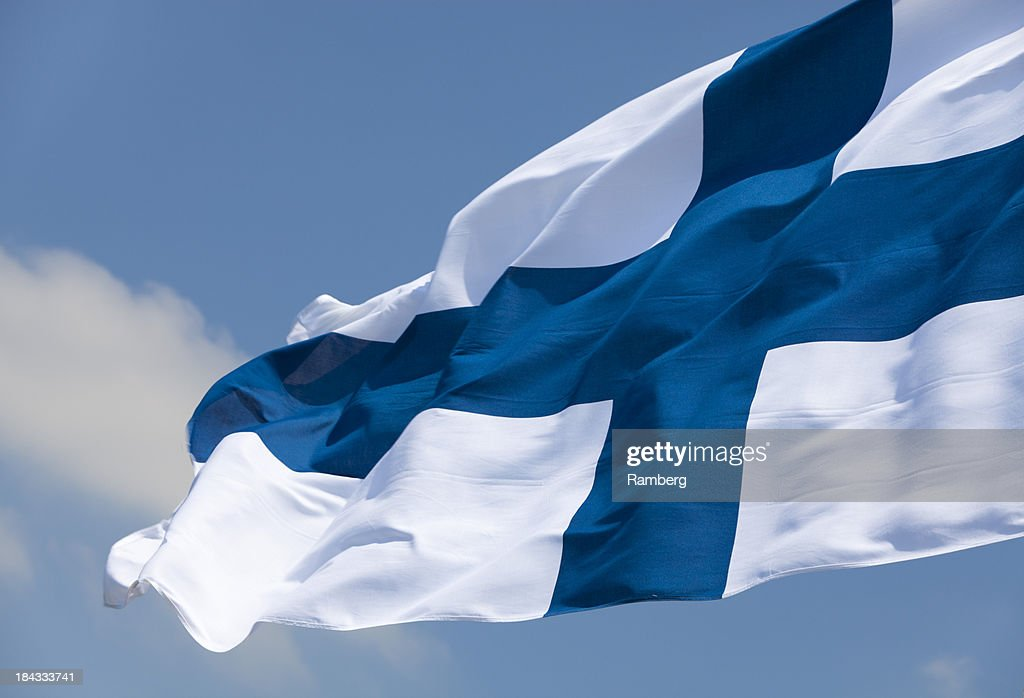 Flag of Finland : Stock Photo