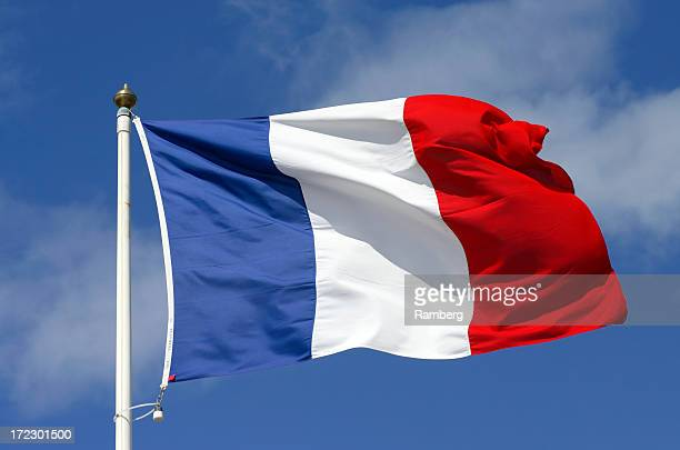 flag of france - franse cultuur stockfoto's en -beelden