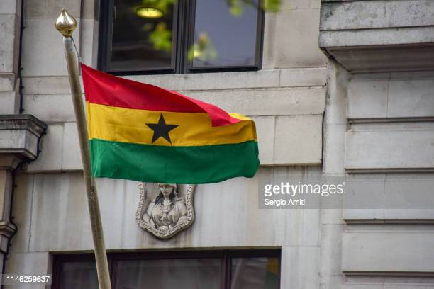 flag of ghana - ghanaian flag stock photos and pictures