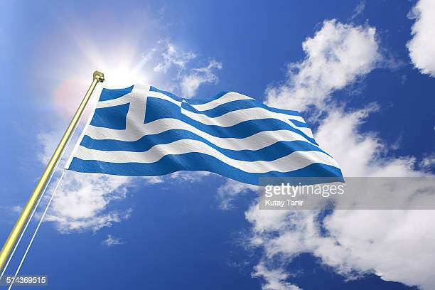 flag of greece - greek flag stock pictures, royalty-free photos & images