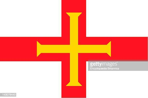 Flag Of Guernsey A Crown Dependency Of The United Kingdom