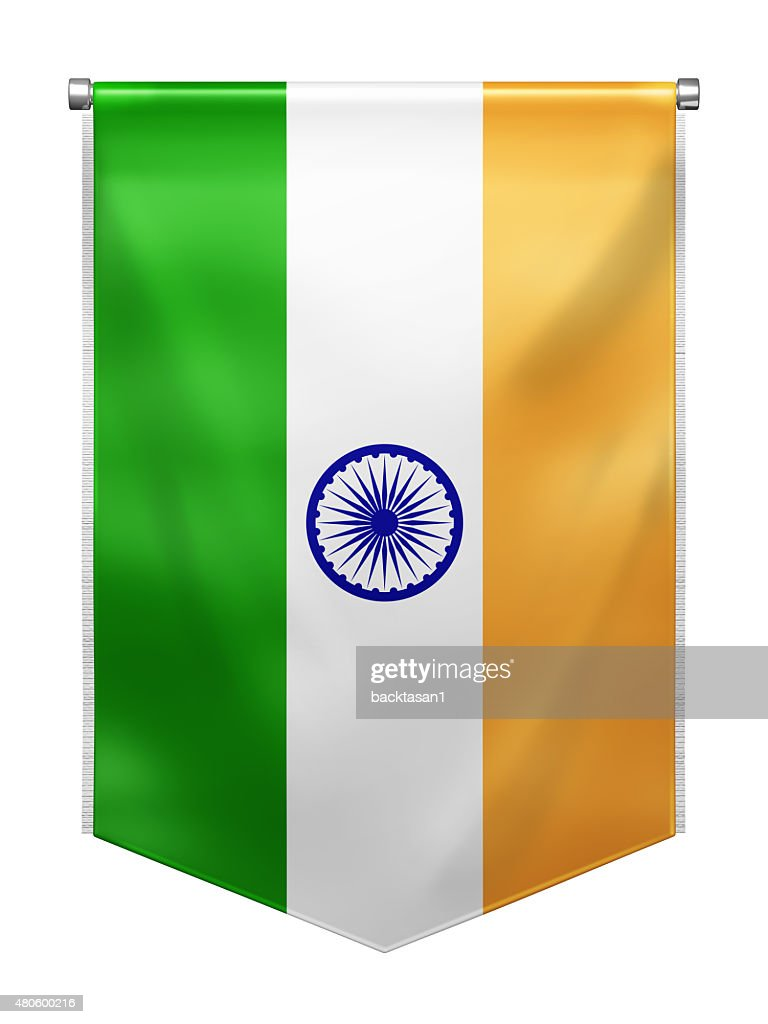 Flag of India : Stock Photo