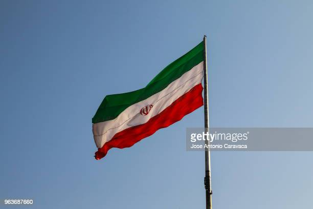 flag of iran - iran flag stock photos and pictures