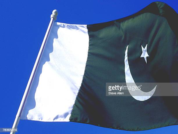 flag of islamic republic of pakistan - pakistani flag stock photos and pictures