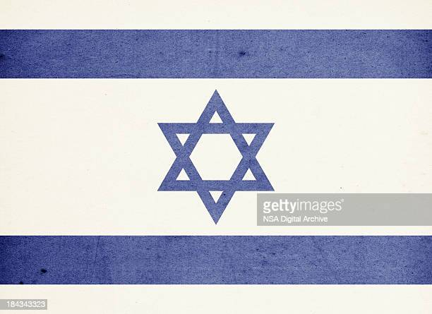 Flag of Israel Close-Up (High Resolution Image)