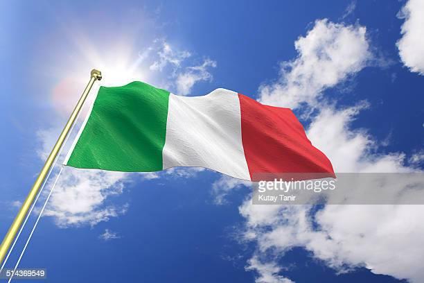flag of italy - bandera italiana fotografías e imágenes de stock