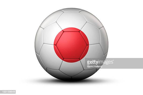 Flag of Japan on Soccer Ball