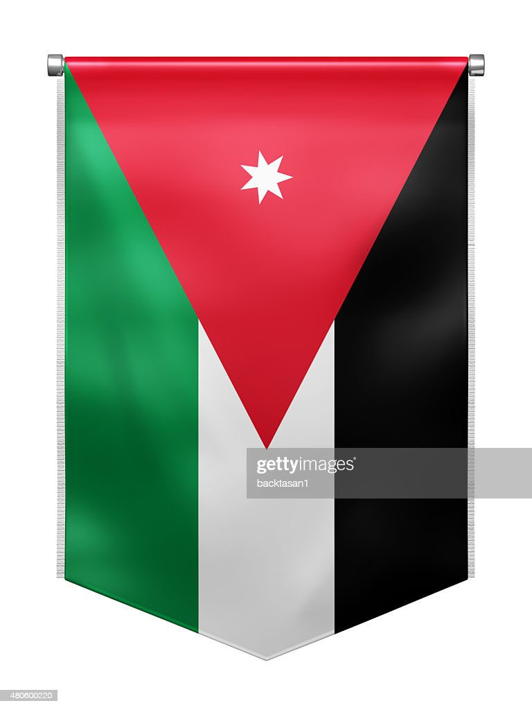 Flag of Jordan : Stock Photo