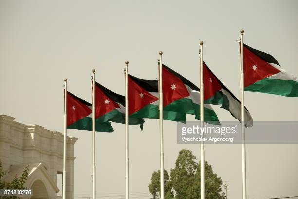 flag of jordan (jordanian flag) - argenberg stock pictures, royalty-free photos & images