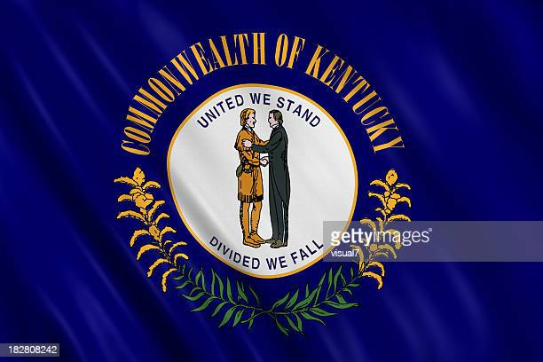 flag of kentucky - kentucky stock pictures, royalty-free photos & images
