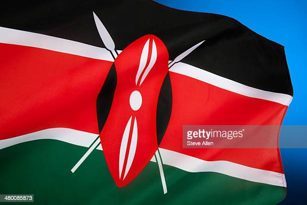 flag of kenya - kenyan flag stock pictures, royalty-free photos & images