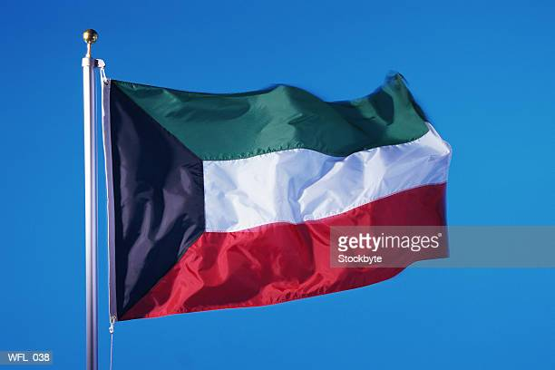 flag of kuwait - kuwaiti flag stock pictures, royalty-free photos & images