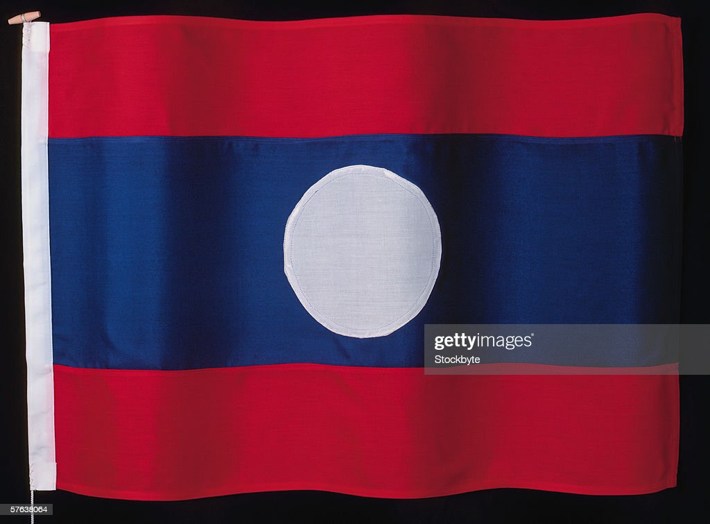flag of Laos : Stock Photo