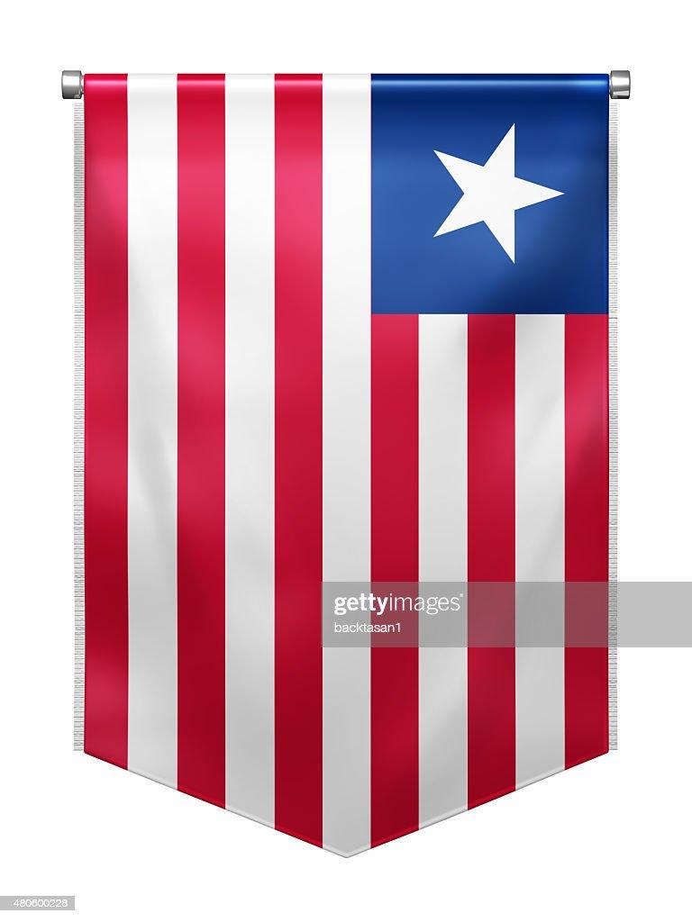 Flag of Liberia : Stock Photo