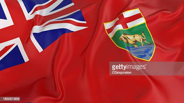 flag of manitoba - flag stock pictures, royalty-free photos & images