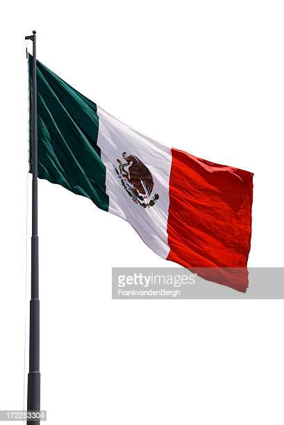 Flag of Mexico isolated on white