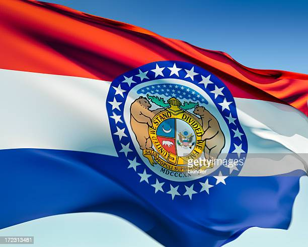 flag of missouri - missouri stock pictures, royalty-free photos & images