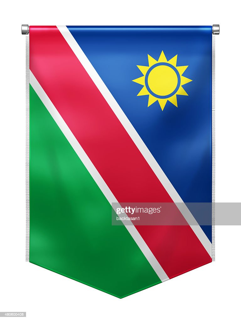 Flag of Namibia : Stock Photo