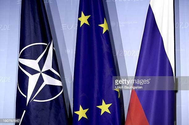 Flag of NATO European Union and Russia