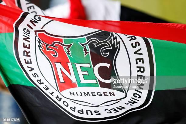 flag of NEC Nijmegen during the Dutch Jupiler League match between NEC Nijmegen v Telstar at the Goffert Stadium on April 2 2018 in Nijmegen...
