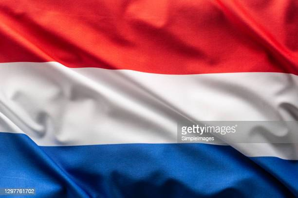 flag of netherlands blowing in the wind. - flag stock pictures, royalty-free photos & images