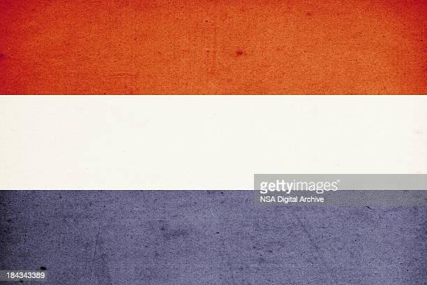 flag of netherlands close-up (high resolution image) - nederlandse vlag stockfoto's en -beelden