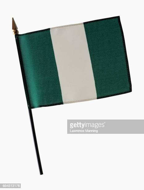 flag of nigeria - nigerian flag stock photos and pictures