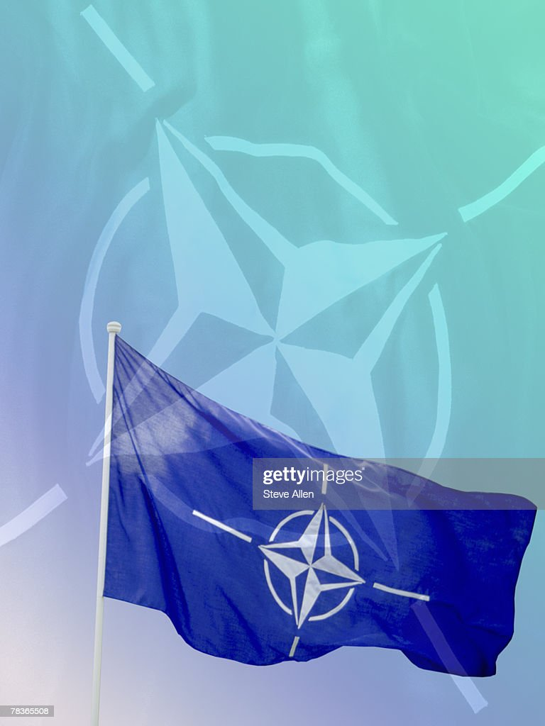 Flag of North Atlantic Treaty Organization : Stock Photo