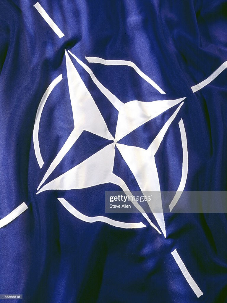 Flag of North Atlantic Treaty Organization : Stock Photo