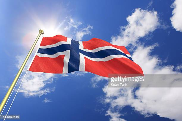 flag of norway - norwegian flag stock pictures, royalty-free photos & images