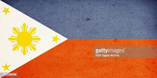 flag of philippines close-up (high resolution image) - filipino flag stock pictures, royalty-free photos & images