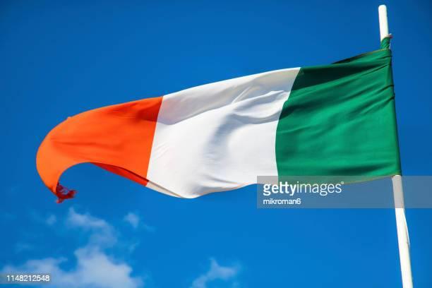 flag of republic of ireland - irish flag stock pictures, royalty-free photos & images