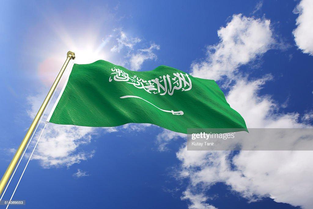 Flag of Saudi Arabia : Stock Photo